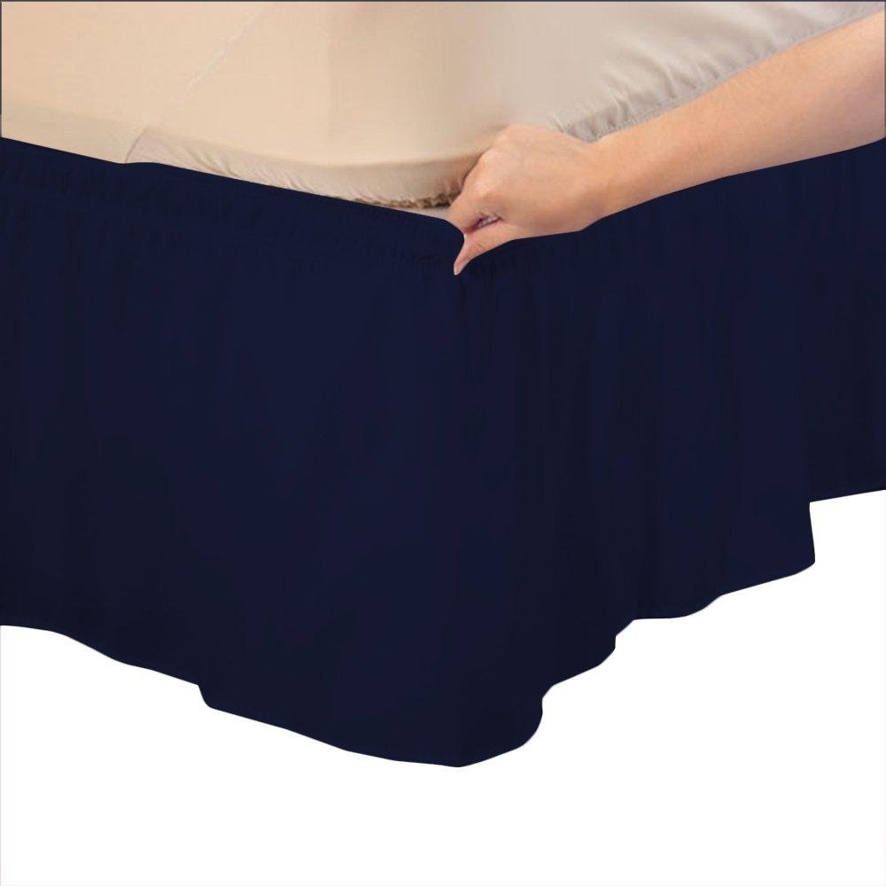 ca/ída de35,6 cm. 100/% algod/ón egipcio EU/_Double elegante acabado RoyalLinens 300 hilos algod/ón Taupe Solid Fald/ón de cama de alta calidad