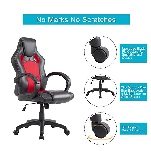... Acepro Office Chair Desk Chair Computer Gaming Chair High Back Leather  Office Desk Chairs Adjustable Executive ...