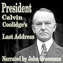 President Calvin Coolidge's Last Address