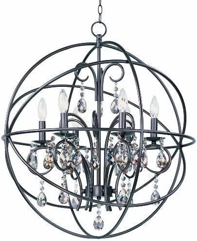 Maxim Lighting 25144OI 6-Light Pendant Lighting Fixture with OilRubbedBronze,ModernLampforInteriorDecoration.ToolsandHomeImprovement