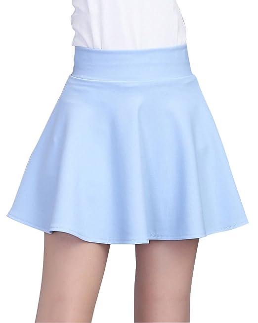 Mujer Cintura Alta Color Sólido Elasticidad A-Línea Falda Plisada Mini con  Pantalones De Seguridad Azul XL  Amazon.es  Ropa y accesorios 297e9c06e510