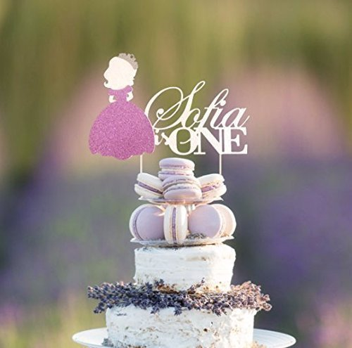 Sofia The First Personalized Age and Name Cake Topper, Princess Cake Topper, Sofia The First Centerpiece, Disney Princess Birthday Decor