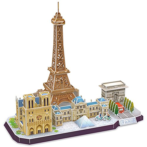 (CubicFun Paris Skyline Building Model Kits Puzzle Craft Toys Gift,114 Pieces MC254h)
