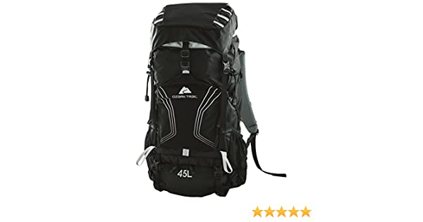 Amazon.com : OZARK TRAIL - 45L Montpelier Technical Backpack, Removable Aluminum Frame, 2 Side Mesh Pockets, Trekking Pole Attachment Points, ...