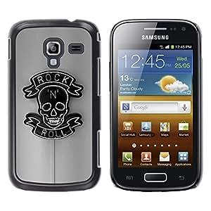 LECELL--Funda protectora / Cubierta / Piel For Samsung Galaxy Ace 2 I8160 Ace II X S7560M -- Rock Roll Sign Neon Bar Pub Black --
