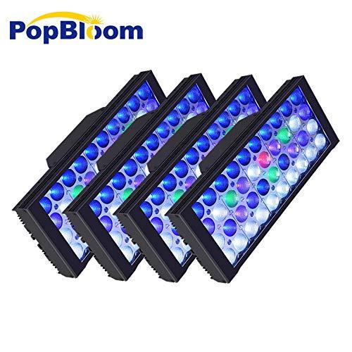 DSunY 4X LED Aquarium Light 480W Saltwater Lamp for Coral Reef Marine Fish Tanks, with 1 Controller, 3W Bridgelux…