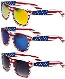 Classic American Patriot Flag Wayfarer Style Sunglasses USA