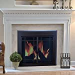 Pleasant Hearth EN-5500 Pleasant Hearth Enfield Glass Firescreen, Burnished Bronze by GHP Group