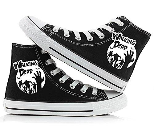 nbsp;Styles Damen The Walking Herren Leinwand Jungen Sneakers Schuhe 2 Schwarz Dead 3 Schuhe 0Awvqp0