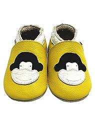 Mejale Baby Girl Shoes Soft Soled Leather Moccasins Monkey Infant Toddler Pre-walker