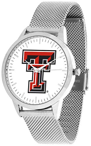 (Texas Tech Red Raiders - Mesh Statement Watch - Silver Band)