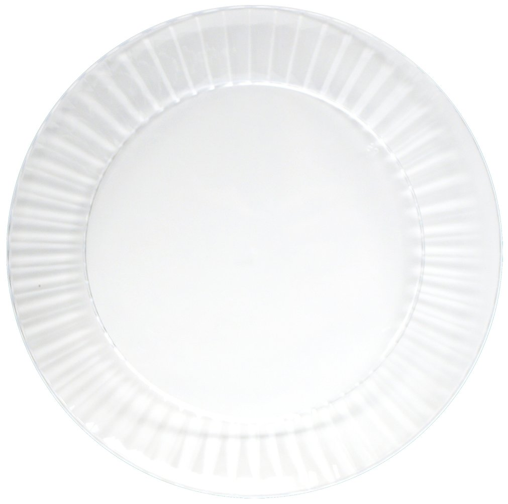 Party Essentials Deluxe Quality Hard Plastic 6-Inch Round Party/Dessert Plates, Clear, 24 Count