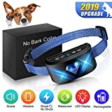 [ New Generation] Dog Anti Bark Collar, 6-in-1 Adjustable Collar Beep Vibration Shock 7 Sensitivity, Best bark Humane No Harm Control Collar with New Algorithm for Small Medium Large Dogs