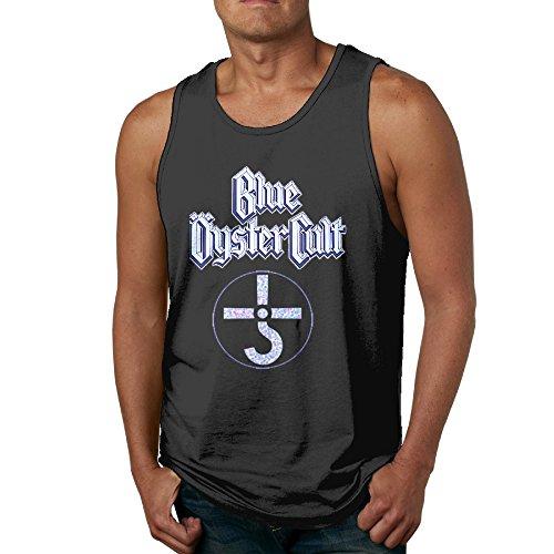 GOOOET Men's Blue Oyster Cult Logo Tank Top Gym T-shirt