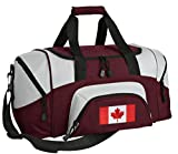 SMALL Canada Gym Bag Deluxe Canada Flag Travel Bag