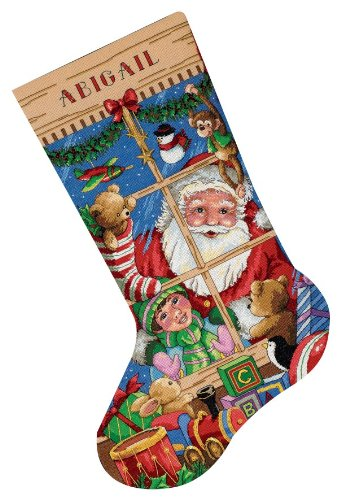 Dimensions Needlecrafts Counted Cross Stitch, Santa's Toys Stocking