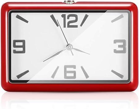 Winbang Auto Armaturenbrett Uhr Auto Uhren Quarzuhr Schöne Auto Dekoration Uhr Ornamente Mini Stick On Style Rot Auto