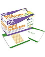 5th Grade Math Flashcards: 240 Flashcards for Improving Math Skills (Decimals, Fractions, Percents, Adding and Subtracting Fractions, Geometry)