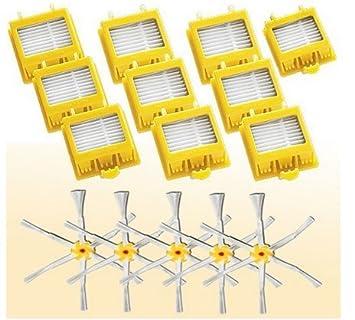 TOP-MALL Reemplazo iRobot Kit Filtro Cepillo Para Roomba 760, 770, 780: Amazon.es: Hogar