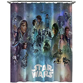 Jay Franco Star Wars Celebration Limited Edition Shower Curtain, Blue