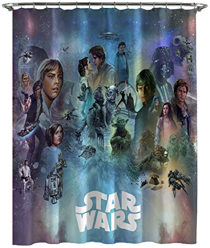 Jay Franco Star Wars Celebration Limited Edition Shower Curtain, Blue