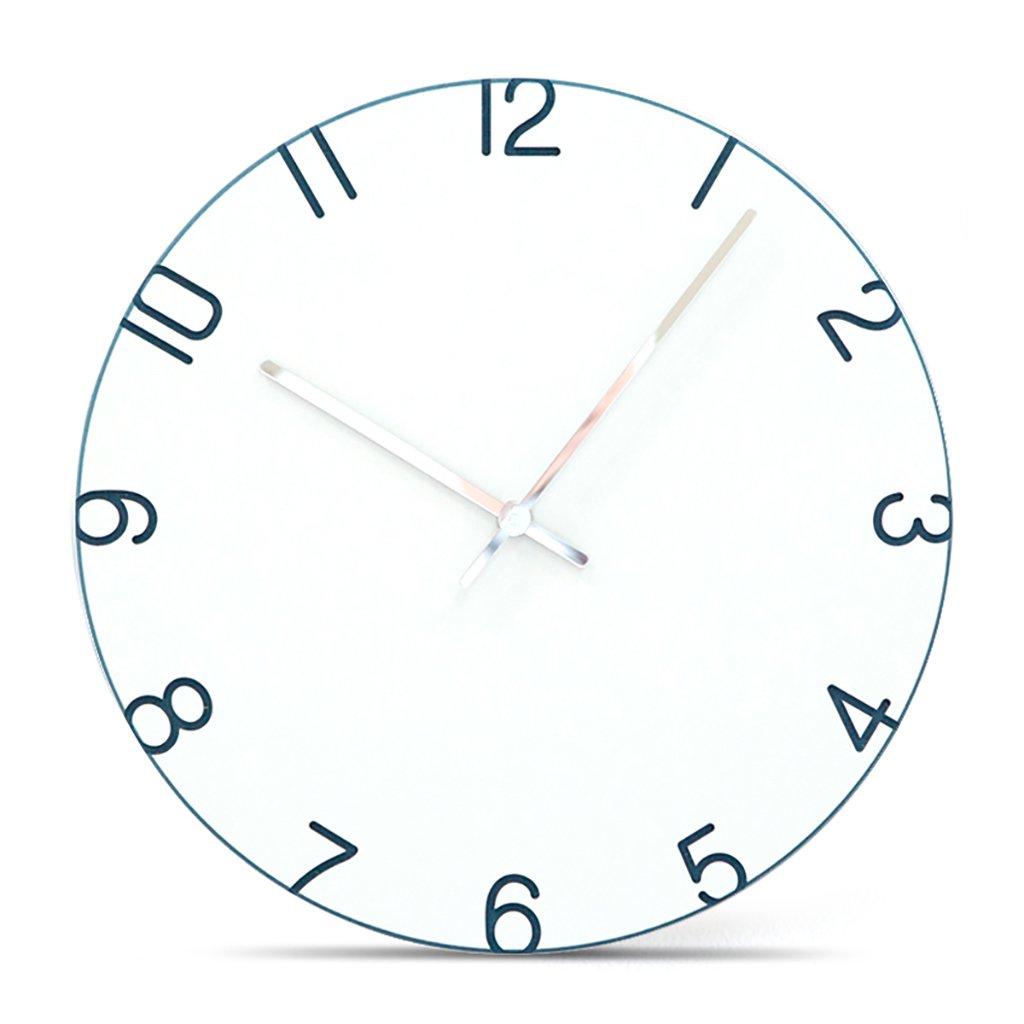 サイレントスイープの壁時計、現代のシンプルな時計ローマ数字12インチのMDF材料のリビングルームとベッドルーム,G B07D6M28GG G G