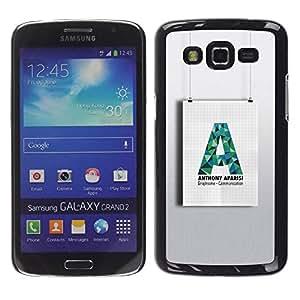 rígido protector delgado Shell Prima Delgada Casa Carcasa Funda Case Bandera Cover Armor para Samsung Galaxy Grand 2 SM-G7102 SM-G7105 /A Art Wall Shape Paper Hanging/ STRONG