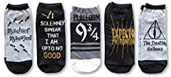 Hyp Harry Potter Deathly Hallows I Solemnly Swear 5 Pack Ankle Socks