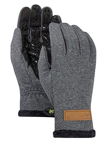 Process Bonded Fleece - Burton Women's Sapphire Gloves Touchscreen Winter Gloves (True Black Heather, Small)