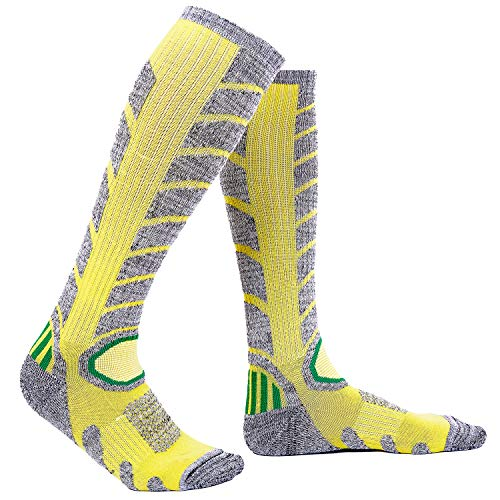 Ladies Ski Socks Winter Thermal Snowboarding Socks 1 Pack Yellow