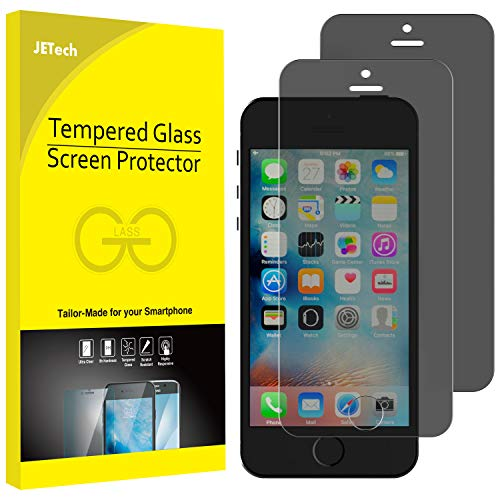 JETech Privacy Screen Protector for iPhone SE 5s 5c 5, Tempered Glass Film, 2-Pack (Best Privacy Screen Protector For Iphone 5s)