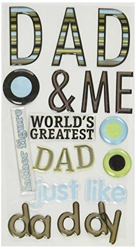 (Sticko Phrase Cafe Epoxy Stickers, Dad)