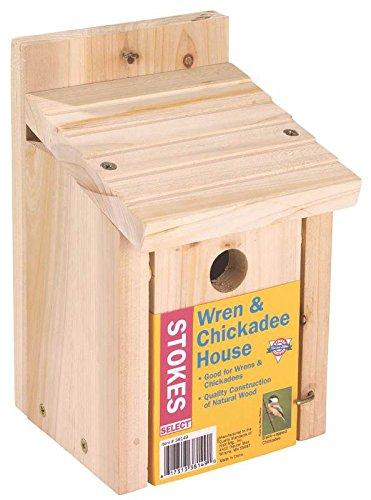 Stokes Select Wren & Chickadee Nesting Bird House, Natural ()
