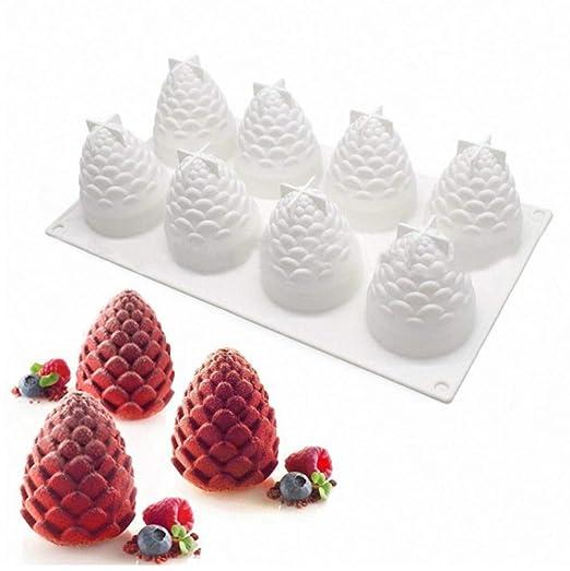 FKB@ED 3D Molde de Pastel de Piña el Mejor Regalo de Navidad Hecho ...