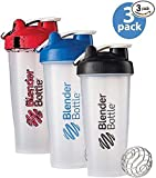 BlenderBottle 3-Pack Water Bottle of 28oz ,multiple colors