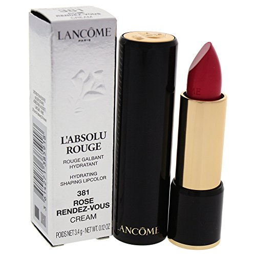 (Lancome L'absolu Rouge Hydrating Shaping Lipcolor, Rose Rendez-vous, 0.12 Ounce)