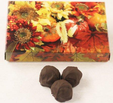 Dark Chocolate Fudge Cake (Scott's Cakes Dark Chocolate Covered Maple Fudge Truffles in a 8 oz. Fall Leaf Box)