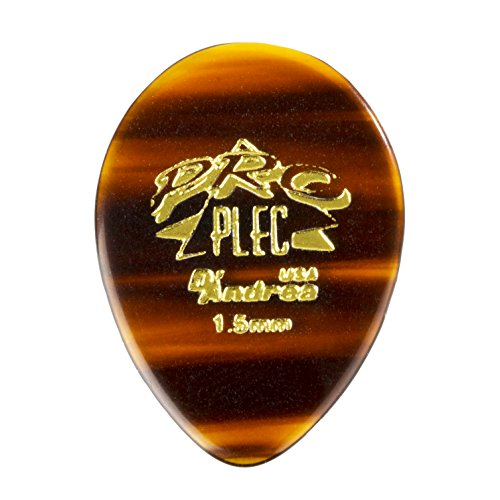 D'Andrea PRO-358 Pro Plec 1.5mm Guitar Pick with Shell Finish (12 Piece, Pointed Teardrop) - Millimeter Finger