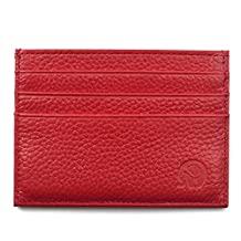 Handmade Genuine Leather Unisex Slim Card Case Super Thin Fashion Card Holder Compact Wallet