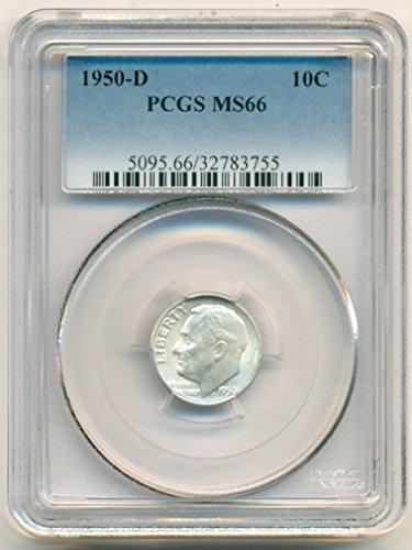 1950 D Roosevelt Dime MS66 PCGS