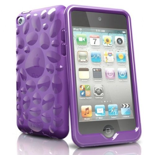 - iSkin TCVBP4-PE4 Pebble for iPod Touch Purple