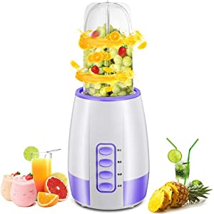 IW.HLMF 5 in 1 Update for blenders, Fruit and Vegetable juices -Free Automatic Cleaning Function with Stainless Steel Cutting Blades for Making Smoothies Baibao