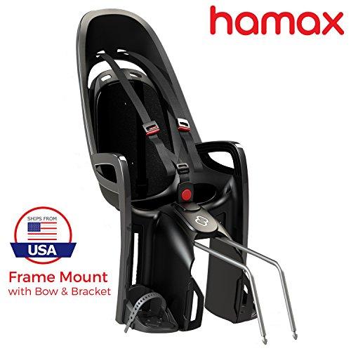 Hamax Zenith Rear Child Bike Seat (Grey/White, Frame Mount) by Hamax