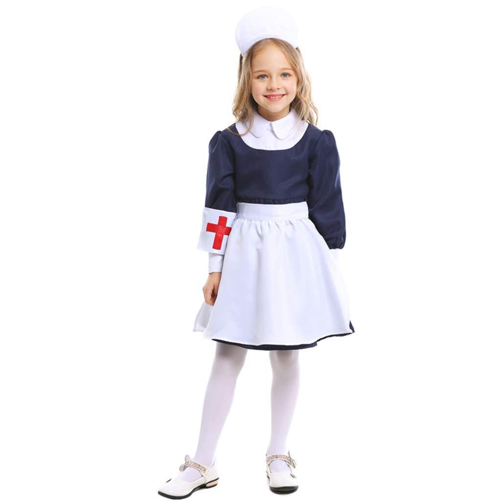 CJJC Uniforme de rol de Enfermera de niño, Falda de Enfermera de ...