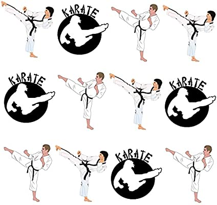 Kids Martial Arts Karate Edible Cupcake Toppers Standup Fairy Cake Decorations