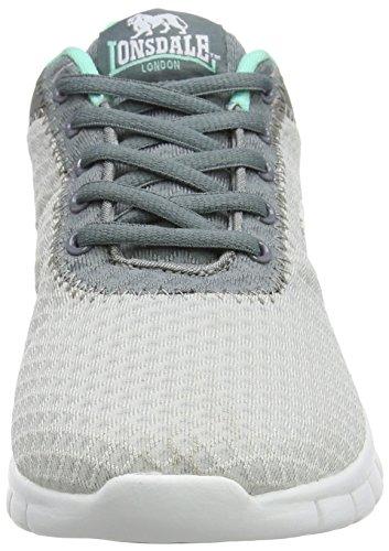 Grey para Grey Tydro Mujer Lonsdale Mint Zapatillas Gris de Exterior Deporte para wBHw6qzRx