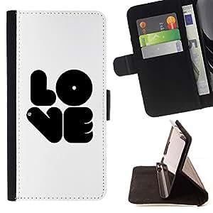 Momo Phone Case / Flip Funda de Cuero Case Cover - Amor negro - Huawei Ascend P8 (Not for P8 Lite)