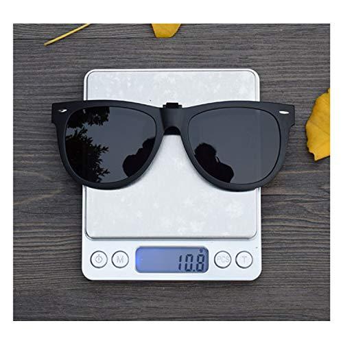 Clip-On Sunglasses Polarized Unisex Anti-Glare Driving, Black, Size Large
