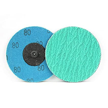 /… Roll On 120 Grit 3 Green Zirconia with Grind Aid Quick Change Sanding Discs Type R Male 25 Pack