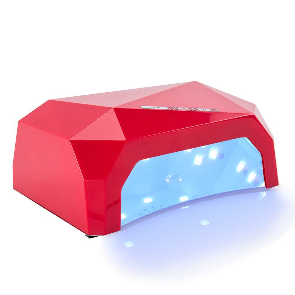 36W Gel Nail Dryer LED UV Lamp Acrylic Polish Nail Manicure Pedicure with Automatic 3 Timer Setting 10/30/60 Second Black Littleduckling